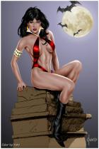 Vampirella by Joe Jusko colored by Yatz
