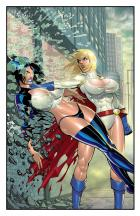 POWER GIRL vs. FEEDBACK Part 3 of 8