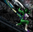 She Hulk Saving the Bus