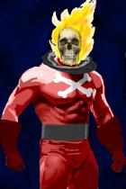 I'm not the Ghost Rider, I'm the Blazing Skull!
