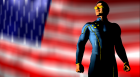 Cyclops and the American  Flag