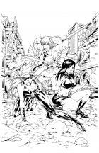BANZAI GIRL:  KONI WAVES & EVE! by Jinky Coronado