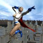 Power Girl Patrols the Skies!