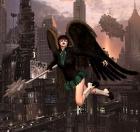 steampunkish style hawk girl