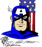 Captain America (After Ron Frenz sketch)
