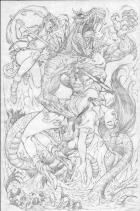 BANZAI GIRL: REVENGE OF THE SNAKEMAN (Roughs) by Jinky Coronado