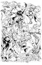 BANZAI GIRL: REVENGE OF THE TIKBALANG! (line art) by Jinky Coronado