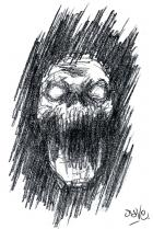 Skull In Darkness