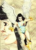 Birdwoman drawing