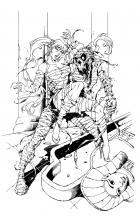 BANZAI GIRL: THE MUMMY RETURNS! (line art) by Jinky Coronado