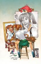 BANZAI GIRL: SELF-PORTRAIT IN THREES! (Color) by Jinky Coronado