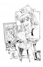 BANZAI GIRL: SELF-PORTRAIT IN THREES! (Version 2) by Jinky Coronado