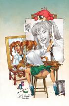 BANZAI GIRL: SELF-PORTRAIT IN THREES! (2nd Version Final Color) by Jinky Coronado