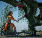 Wonder Woman vs Dragon