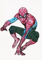 Spidey (colored pencil)