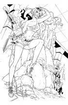 ROCKY MOUNTAIN GIRL! Line art by Jinky Coronado