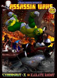 Unicorn Comics Assassin Wars XTRA - Cybernaut-X vs Karate Robot