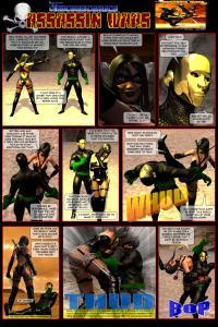Unicorn Comics Assassin Wars Rd 3 - Black Orchid vs Copperhead - Battle Pages One