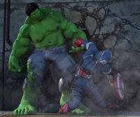 Hulk and Cap America