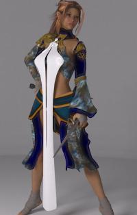 Half-Elf Warrior Monk.