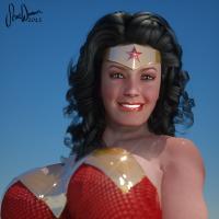 Lynda Carter, Wonder Woman (close up)