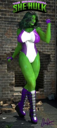 The Sensational She-Hulk!