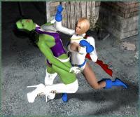 She-Hulk Vs. Power Girl! 3rd Scene!!!