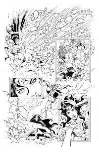 WONDER WOMAN (page 2) line art by Jinky Coronado