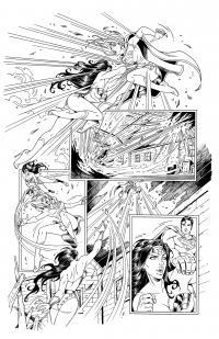 WONDER WOMAN (Page 3) line art by Jinky Coronado