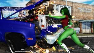 She-Hulk Speed Bump