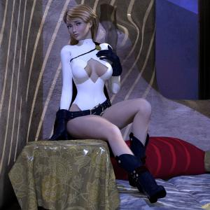 Power Girl Pillow Room