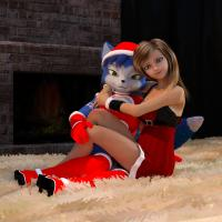 Santa Krystal And Her Helper