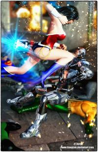 Wonder Woman v Cyborg
