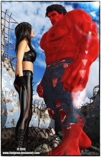 X23 and Red Hulk