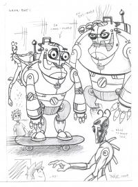 Draw-Off Archive: 2009 - 'Toonz' Theme - 'Whoah-Bot'