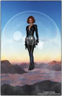 Black Widow Bubble Trouble
