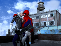 Spider-man and the Black Cat Kiss