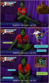 SMACKDOWN!: She-Hulk GREEN ROOM interview 1