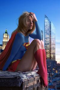 Supergirl city-watching
