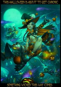 Heromorph-O-Weenish: Halloween Greetings Card