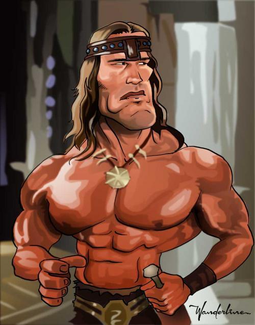 Conan - Schwarzenegger caricature