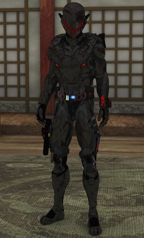 Obsidian Mask Armor MK-XIII