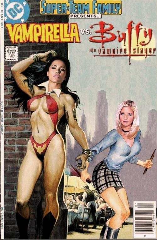 Vampirella vs Buffy the Vampire Slayer Super Team Family
