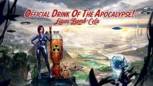 Atomic Bomb Cola Official Drink of The Apocalypse