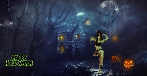 Happy Halloween Witchy Woman Haunted Valley