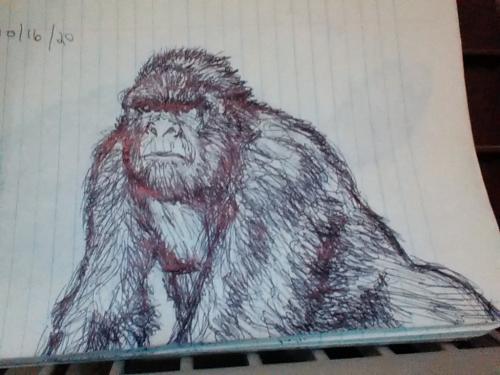 Inktober #4: Man-ape