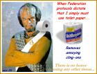 April Challenge - Lt. Worf Toilet Paper Advert