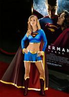 Supergirl attends movie premier (aka Joanna Krupa is Supergirl)