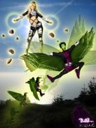 HM/C2F Crossover: Terra vs Beast Boy by Dark Wanderer and Kev Incal