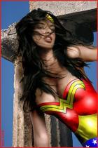 Lima as Wonder Woman